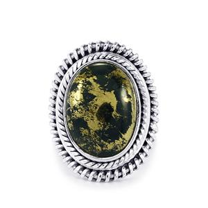 Apache Gold Pyrite Ring in Sterling Silver 13cts