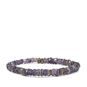 Bengal Iolite Graduated Bead Stretchable Bracelet 49cts
