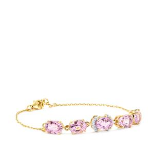 Mawi Kunzite Bracelet with Diamond in 18K Gold 8.84cts