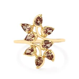 Bekily Color Change Garnet Ring in 10k Gold 1.53cts