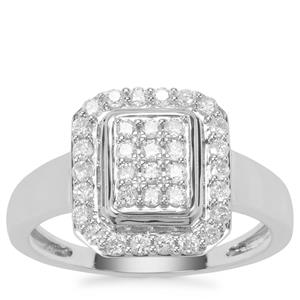 Canadian Diamond Ring in 9K White Gold 0.51ct