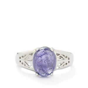 3.60ct Tanzanite Sterling Silver Ring