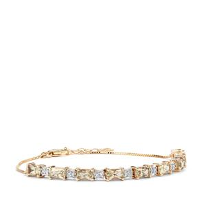 Csarite® Bracelet with Diamond in 9K Gold 2.72cts