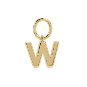 Molte W Letter in Gold Plated Sterling Silver