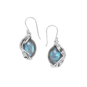 Labradorite Earrings  in Sterling Silver 19cts