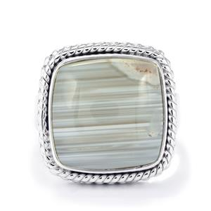 9.50ct Botswana Agate Sterling Silver Aryonna Ring