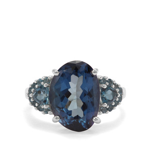 8.60ct Hope & London Blue Topaz Sterling Silver Ring