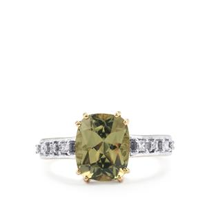 Csarite® Ring with Diamond in 18K Gold 3.51cts