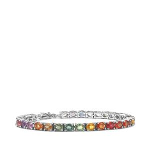 Rainbow Sapphire Bracelet in Sterling Silver 14.84cts