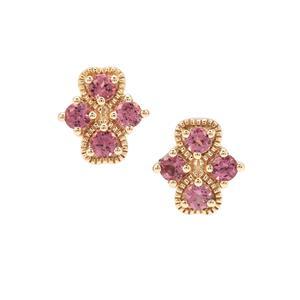 Malaya Garnet Earrings in 9K Gold 1.12cts