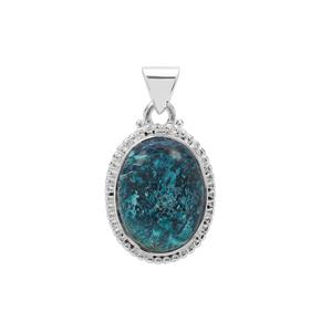 Namibian Shattuckite Pendant in Sterling Silver 13cts