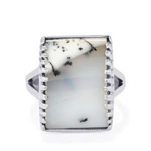 15ct Turkish Dendrite Sterling Silver Arco Ring