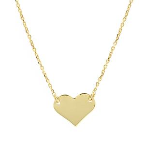 "36"" Midas Altro Heart Necklace 2.63g"