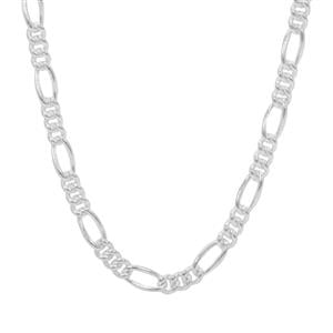 "18"" Sterling Silver Couture Figaro Chain 2.57g"
