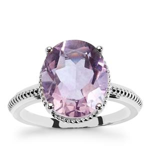 5.60ct Purple Fluorite Sterling Silver Ring