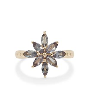 Colour Change Garnet Ring in 9K Gold 1.35cts