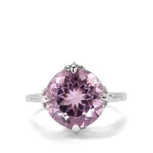Bahia Amethyst & White Zircon Sterling Silver Ring ATGW 6.63cts
