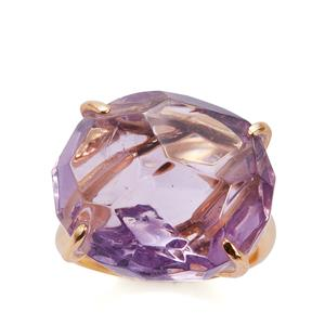 Bahia Amethyst Sarah Bennett Ring in 14K Gold Tone Sterling Silver 21.74cts