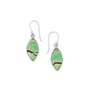 Australian Variscite Earrings in Sterling Silver 14cts