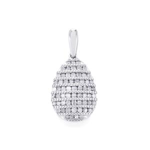 1/2ct Diamond Sterling Silver Pendant