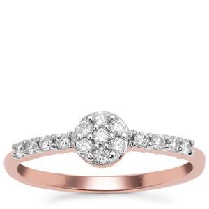 Argyle Diamond Ring in 9K Rose Gold 0.26ct