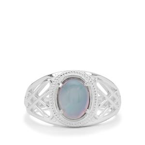Blue Moonstone Ring in Sterling Silver 1.95cts