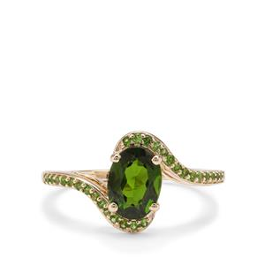 1.40ct Chrome Diopside 9K Gold Ring