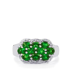 Chrome Diopside Ring in Sterling Silver 1.92cts