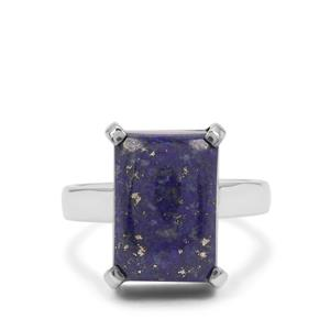 Sar-i-Sang Lapis Lazuli Ring in Sterling Silver 8cts
