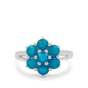 1.15ct Ethiopian Paraiba Blue Opal Sterling Silver Ring