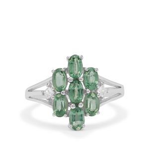Odisha Kyanite & White Zircon Sterling Silver Ring ATGW 2.55cts