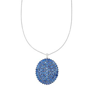 Daha Kyanite Pendant Necklace in Platinum Plated Sterling Silver 24.35cts