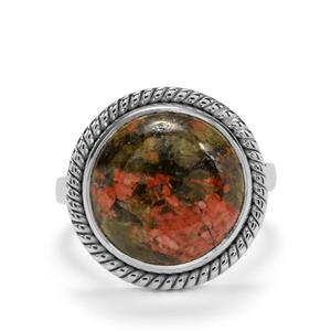 9.58ct Unakite Sterling Silver Aryonna Ring