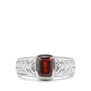 Octavian Garnet Romulus Ring in Sterling Silver 1.35cts