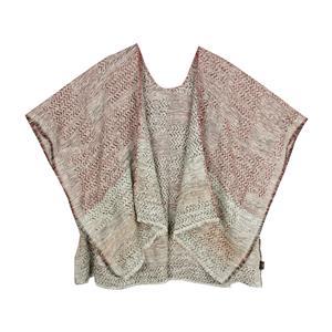 80% Cotton 20% Polyester Yarn Dyed Destello Poncho (Marron)