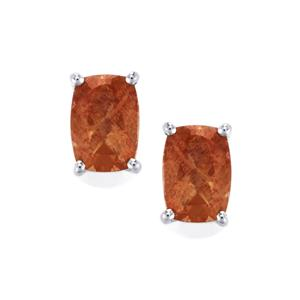 1.67ct Shinyanga Sunstone Sterling Silver Earrings