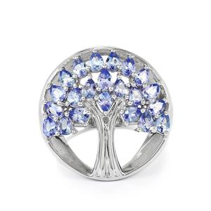 3.21ct Tanzanite Sterling Silver Ring