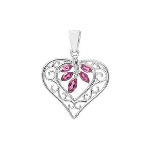 Rajasthan Garnet Pendant in Sterling Silver 1.04cts