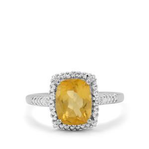 0.84ct Burmese Amber Sterling Silver Ring