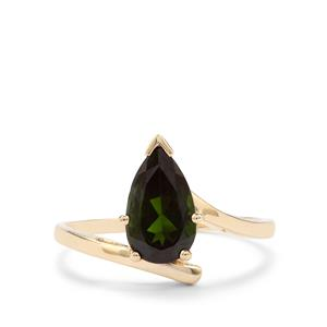 Chrome Diopside Ring in 10K Gold 1.51cts