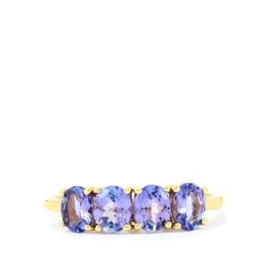 AA Tanzanite Ring in 9K Gold 1.36cts