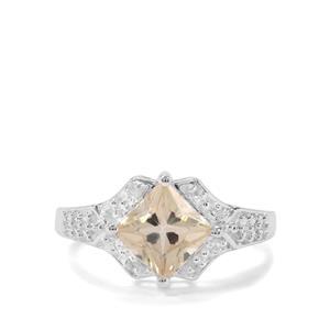 Serenite & White Zircon Sterling Silver Ring ATGW 1.67cts