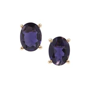 Bengal Iolite Earrings in 9K Gold 1.90cts