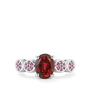 Umbalite Ring with Burmese Ruby in Sterling Silver 2.60cts
