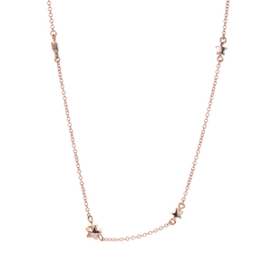 Star Necklace in Rose Tone Sterling Silver 5.84g