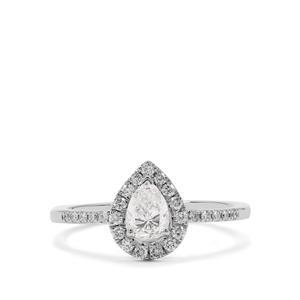 Diamond Ring in Platinum 950 0.74ct