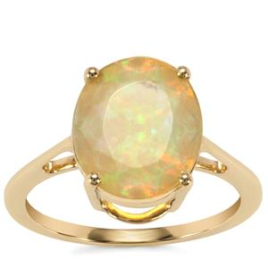 Ethiopian Opal Ring in 9K Gold 1.90cts