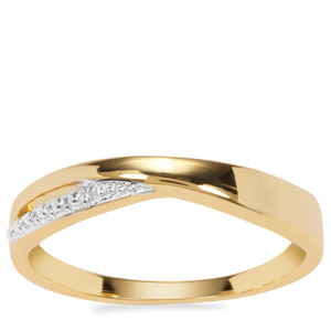 Diamond Ring in Gold Plated Sterling Silver