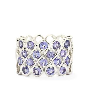 2.16ct AA Tanzanite Sterling Silver Ring