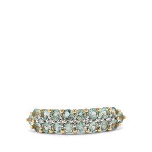 Aquaiba™ Beryl & Diamond 9K Gold Ring ATGW 1.04cts